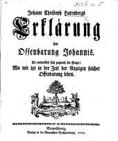 J. C. Harenbergs Erklärung der Offenbarung Johannis, etc