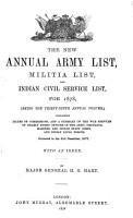 Hart s Annual Army List  Special Reserve List  and Territorial Force List PDF