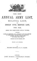 Hart S Annual Army List Special Reserve List And Territorial Force List Book PDF