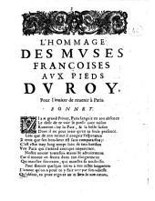 L'hommage des muses françoises aux pieds du roy