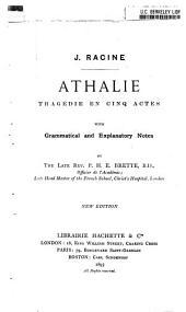 Athalie: tragédie en cinq actes