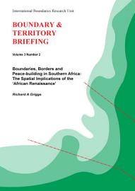 Boundaries  Borders And Peace Building In Southern Africa