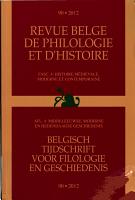 Belgisch tijdschrift voor philologie en geschiedenis PDF