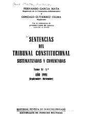 Sentencias Del Tribunal Constitucional Sistematizadas Y Comentadas Ano 1981