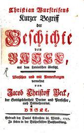 Kurzer Begriff der Geschichte von Basel