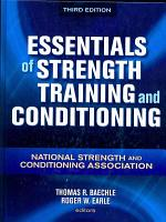 Essentials of Strength Training and Conditioning PDF