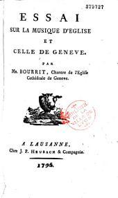 Essai sur la musique d'église et celle de Genève