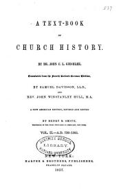 A Text-book of Church History: A.D. 726-1305