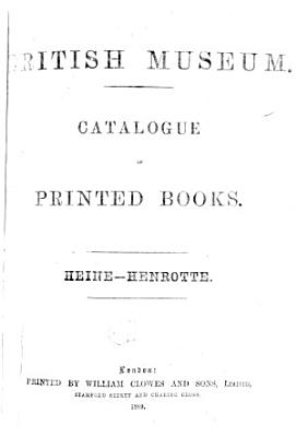 Catalogue of Printed Books in the Library of the British Museum PDF
