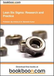 Lean Six Sigma Research And Practice Book PDF