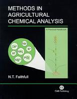Methods in Agricultural Chemical Analysis PDF