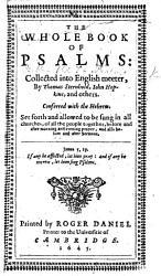 The Whole Book of Psalmes  Etc PDF