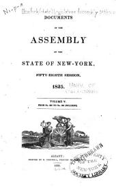 Documents of the Assembly of the State of New York: Volume 5