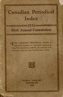 Canadian Periodicals Index PDF