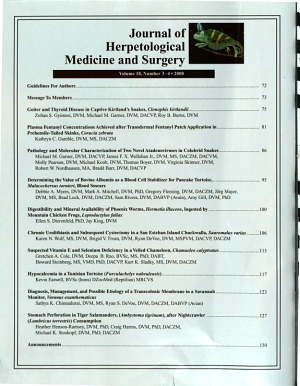 Journal of Herpetological Medicine and Surgery PDF