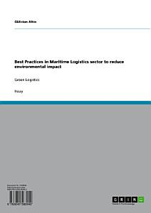 Best Practices in Maritime Logistics sector to reduce environmental impact