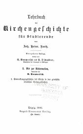 Lehrbuch der kirchengeschichte für studierende: Bis zur reformation, bearb. von N. Bonwetsch