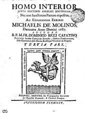 HOMO INTERIOR JUXTA DOCTORIS ANGELICIS DOCTRINAM, Nec non Sanctorum Patrum expositus: TERTIA PARS, Page 3