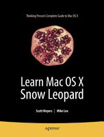 Learn Mac OS X Snow Leopard PDF