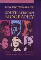 New Dictionary of South African Biography PDF
