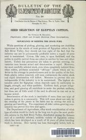 Seed selection of Egyptian cotton