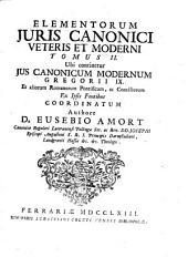 Elementa juris canonici veteris et moderni: Volume 2