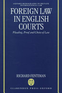 Foreign Law in English Courts