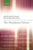 The Morphome Debate PDF