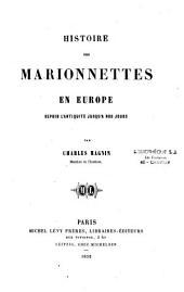 Histoire des marionnettes en Europe depuis l'antiquité jusqu'à nos jours