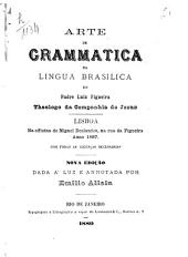 Arte de grammatica da lingua brasilica