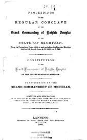 Proceedings of the Regular Conclave of the Grand Commandery of Knights Templar of the State of Michigan