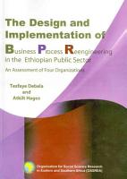 The Design and Implementation of Business Process Reengineering in the Ethiopian Public Sector PDF