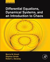 Differential Equations, Dynamical Systems, and an Introduction to Chaos: Edition 3