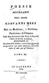 Poesie siciliane dell' abate Giovanni Meli ...