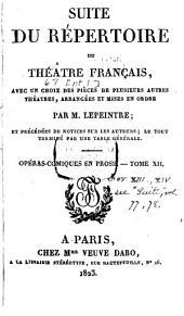 Suite du répertoire du Théâtre Français: avec un choix des pièces de plusieurs autres théâtres, Volume67,Partie1