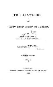"""The Linwoods: or, """"Sixty years since"""" in America, Volume 2"""