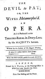 The Devil to Pay; Or, The Wives Metamorphos'd