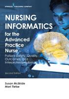 Nursing Informatics For The Advanced Practice Nurse Second Edition