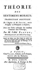 Théorie des sentimens moraux: Volume1