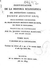 Continuación de la Historia Eclesiástica del eminentísimo Cardenal Joseph Agustín Orsi