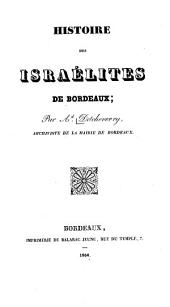 Histoire des Israélites de Bordeaux