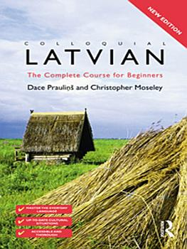 Colloquial Latvian  eBook And MP3 Pack  PDF