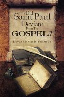Did Saint Paul Deviate From The Gospel  PDF
