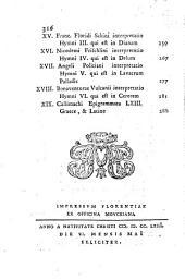 Hymni, cum lat. interpretatione, a C. A. M. Salvinio etruscis versibus redditi: accedit poemation de Coma Berenices ab eodem graece suppletum et a Catullo versum