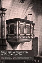 Soupis památek historických a uměleckých v republice Československé: Svazek 22