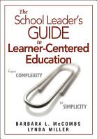 The School Leader s Guide to Learner Centered Education PDF