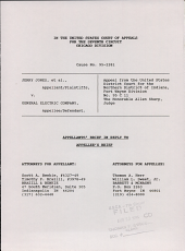 Jones V. General Electric Company: Issues 95-2281