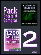 Pack Ahorra al Comprar 2 - 001: Las reglas del juego: Una aventura de aceitunas asesinas & 1200 Chistes para partirse: La colección de chistes definitiva