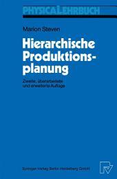 Hierarchische Produktionsplanung: Ausgabe 2