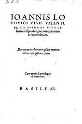 De anima et vita libri III. Opus ... nunc primum ... editum